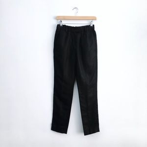 Isabel Marant black linen-blend Trousers - size 0